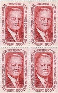 1965 Herbert Hoover 5 Cent US Postage Stamp Block Of 4 MNH Scott #1269