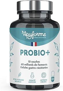 Ferments Lactiques Flore Intestinale - 60 Milliards UFC/Jour - 10 Souches Exclusives dont Lactobacillus - 60 Gélules Gastr...