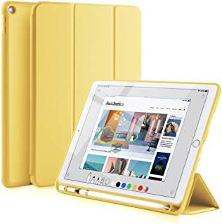GUDOU 2019 iPad Air 10.5 Smart Case with Pencil Holder,Premium PU Leather+Soft Rubberized Trifold Stand Cover with Rebound Pencil Slot,Auto Sleep/Wake,Protective for iPad Air 3rd Gen 10.5inch (Yellow)
