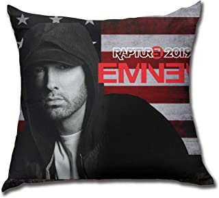 MichaelHazzard Throw Pillow Cover Eminem Pillow Cover Cushion Cover Pillow Case Square Pillowcase Decoration for Sofa Bed Chair Car 18x18inch