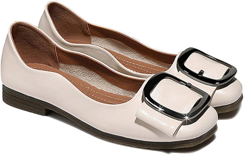Galongjunnvxie GLJXG Kvinnliga skor Flat skor skor skor Square Head Pedal Lazy skor 2 Färger Valfria, Storlek Valfri  snabb leverans