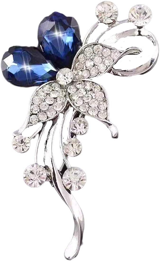 Brooch Vintage Elegant Unique Pearl Brooches Flower Ribbon Brooch Corsage Austrian Crystal Brooch Badge Pin Wedding for Women