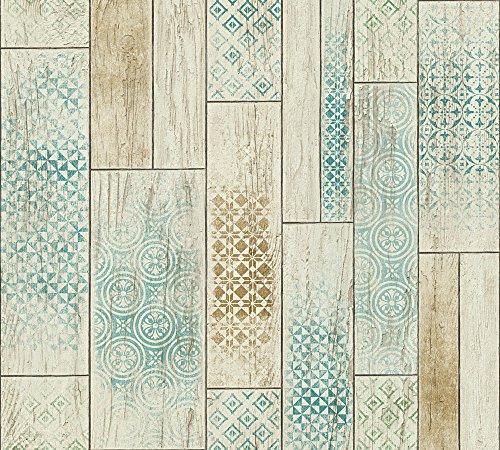 A.S. Création Vliestapete Kitchen Dreams Tapete Küchentapete 10,05 m x 0,53 m beige braun grün Made in Germany 330892 33089-2