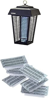 Flowtron BK-80D 80-Watt Electronic Insect Killer, 1-1/2 Acre Coverage WITH Flowtron MA-1000-6 Octenol Mosquito Attractant Cartridges, 6-Pack