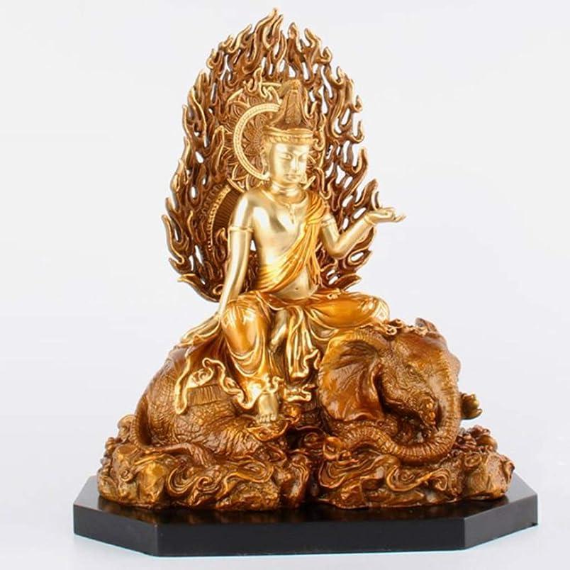 眩惑する出席ありそう純銅仏像、サマンタバドラ仏像、タウンハウスナフ、18×12×23cm LIUXIN