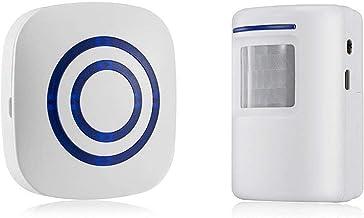 Door Chime,DOHAOOE Wireless Business Door Motion Sensor Detector Smart Visitor doorbell Home Security Driveway Alarm with ...