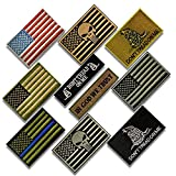 Eybros American Flag Patch, 10 Bundle-Set, Tactical Morale Military Patches of USA US for Backpacks Hat Army Gears Etc
