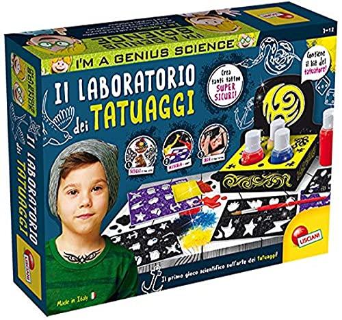 Liscianigiochi- I'm a Genius Science Gioco per Bambini Laboratorio dei Tatuaggi, Multicolore, 72965
