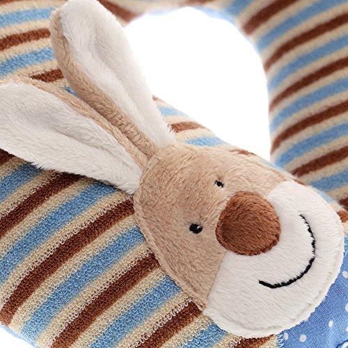 sigikid Mädchen und Jungen, Nackenhörnchen Hase, Semmel Bunny, Braun/Blau, 40834