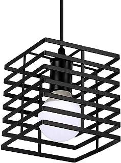 Newrays Retro Loft Industrial Black Iron Hanging Pendant Lamps E27 for Kitchen Living Room Bedroom Restaurant (O)