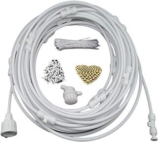 JohnJohnsen Sistema de nebulización para jardín al Aire Libre Enfriador de Ventilador Refrigeración por Agua Sistema de riego por aspersión de nebulización para Patio Kit de riego (Blanco)