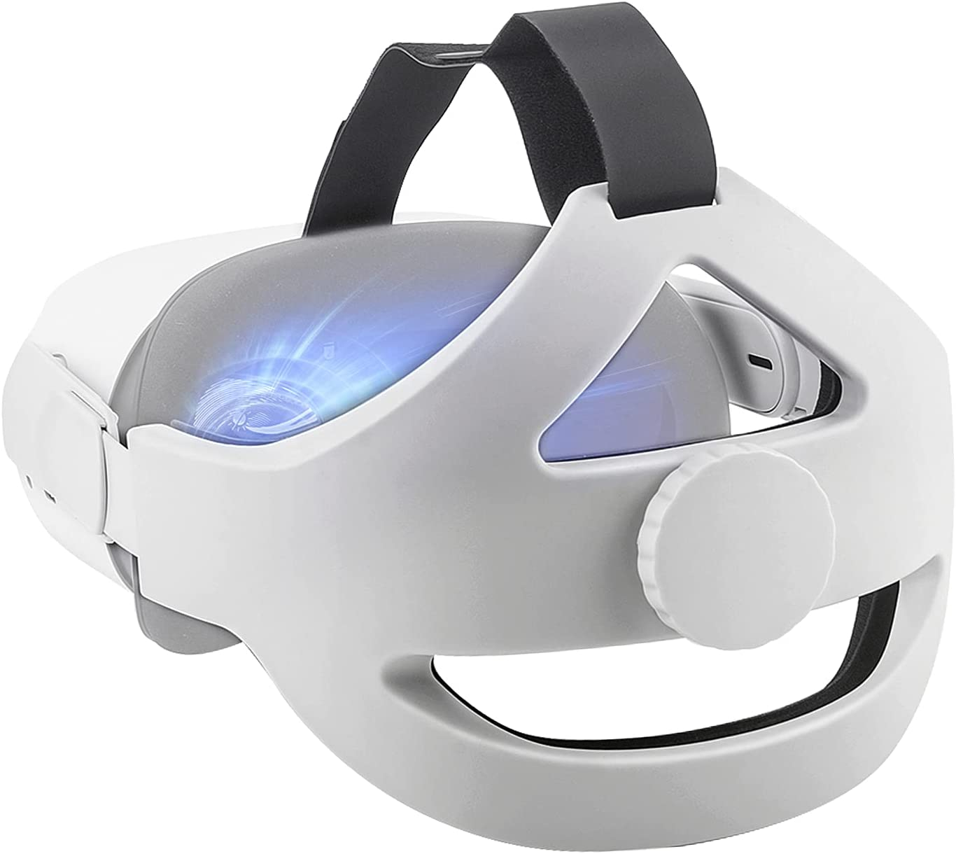 DLseego 2 Elite Strap Quest Headset, Adjustable Head Strap Headband Replacement for Oculus Enhanced Support and Reduce Head Pressure in VR -White