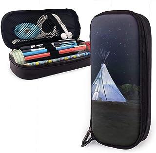 Tre vita tipi-tält pennfodral för pojkar och flickor stor pennhållare pennfodral för student högskola skolmaterial & kontor