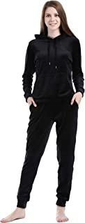 home swee Women's Solid Velour Sweatsuit Set 2 Piece Hoodie and Pants Sport Suits Tracksuits