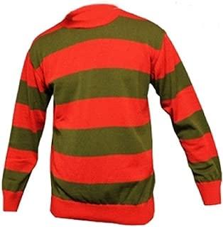 GirlzWalk Kids Unisex Red Green Stripe Knitted Children Round Neck Long Sleeve Jumper 7-12 Years
