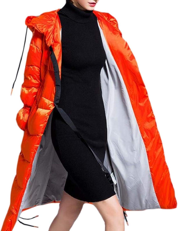 GenericWomen Puffer Winter Hooded Thick Zip Up Fleece Down Jacket Coat