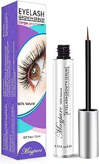 Eyelash Growth Serum, Approved Lash Booster Eyelash Enhancer Eyebrow Growth Serum for Long, Luscious Lashes and Eyebrows-Irritation Free Formula(5ml)