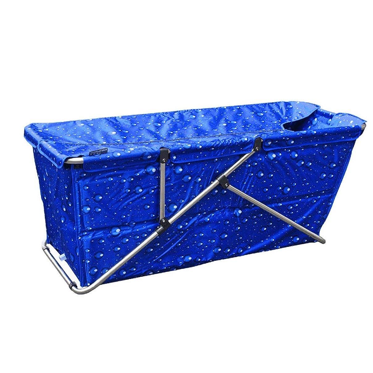 現象テクニカル領収書大人のための大きい折る浴槽、子供、携帯用非膨脹可能な浴槽の屋内個人用スパ、鉄骨、大人の浴室のための浸る浴槽のスパ、シャワーを拡張しなさい (色 : Blue bubble)