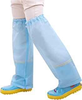 Surgoal 2 Par Niños Niñas Polainas de Pierna Impermeables Reutilizable Pantalones de Lluvia Cubre Piernas Portátil Protect...