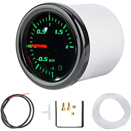 Turbo Ladedruckanzeige Universal 52mm Auto Rauch Zifferblatt Turbo Boost Turbolader Manometer Auto