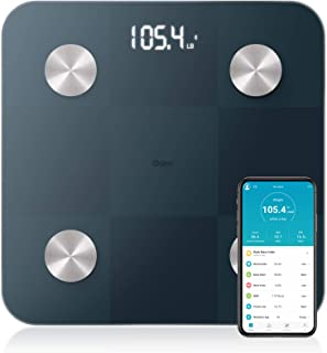Body Scale Bluetooth Body Fat Scale with High Precision Sensors Digital Scale, Smart Bathroom Scale with Durable Tempered ...