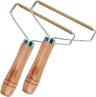 Gxhong Removedor de Pelusa, Portable Lint Remover Afeitadora para Ropa Tela Quitapelusas, Removedor portátil de Madera para Pelusa para Restaurar el suéter y Las Telas removedor (2PCS)