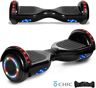 LED Sidelights Bluetooth Speaker Hoverboard Electric Self Balancing Scooter LED Light 6.5 inches Self Balancing Scooter