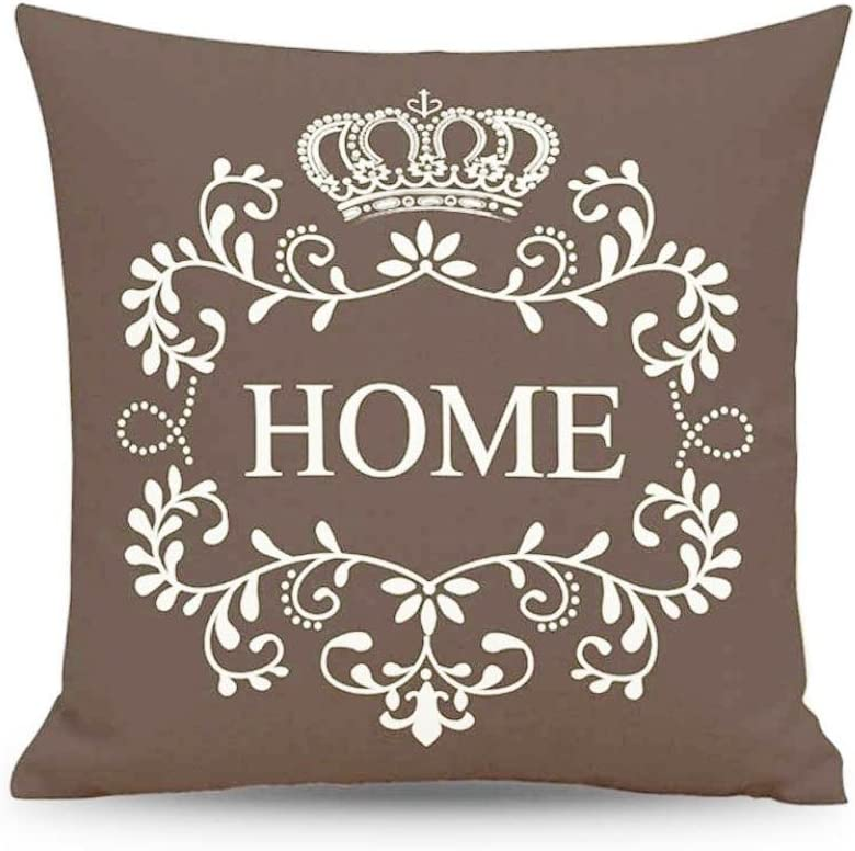 FANSHONN Decorative Throw Pillow Covers Pillowcase Black Cushion Cover for Sofa Bedroom Car 18 x 18 Inch