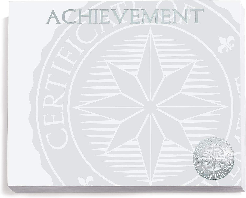 PaperDirect Dallas Mall Silver Foil New sales Achievement Award 8.5 x 11 Certificates