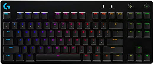 Logitech G PRO TKL mechanische Gaming-Tastatur, GX-Blue Clicky Switches, LIGHTSYNC RGB, Design ohne Nummernblock für Espor...