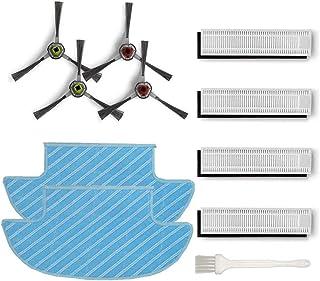Części zamienne do Ecovacs Robotics Deebot Slim / Slim2, zestaw akcesoriów – 8 filtrów Hepa 4 szczotki boczne 2ściereczki ...