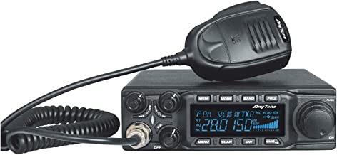 AnyTone AT-6666 10 Meter Amateur Radio for truck, with SSB(PEP)/FM/ AM /PA mode,High Power Output 15W AM,45W FM,60W SSB(PEP)