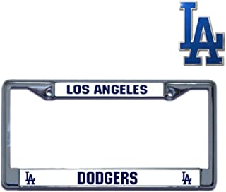 Rico Industries Official Major League Baseball Fan Shop Licensed MLB Shop Authentic Chrome Colored License Plate Frame and Matching Chrome Emblem