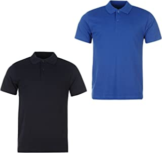 Mens Two Pack Polo Short Sleeve T Shirt Tee Top Wear