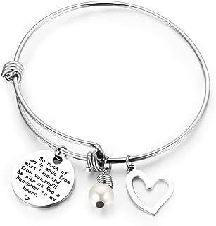 CJ&M Graduation Gift,Personalized Teacher Bangle Bracelet, for Teacher, Gift from Student, Personalized Teacher Jewelry