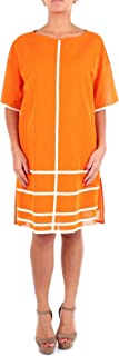 PIERANTONIO GASPARI Luxury Fashion Womens 1P6317HZ464 Orange Dress | Season Outlet