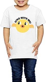 かわいい 鳥 歌う 子供服 キッズ 半袖 Tシャツ 綿100% 3 Toddler