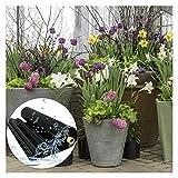 RT-OSXE 0.5mm Flexible Fischteichfolie, Blumentopf Undurchlässige Membran, Faltbar Teichfolien für Garten Schwimmbad Wasserfall, Reißfest, Anpassbar (Color : Black (0.5mm), Size : 5mx6m)