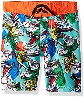 Skechers Little Boys Trunks Swim Shorts Multi Dinosaur 7 [並行輸入品]