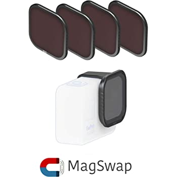 Fstop Labs 4 Pack Lens Filters for GoPro Hero 8 Black Camera Lens Set, Multi Coated Filters Pack Accessories (4 Pack) ND8, ND16, ND32, Polarizer