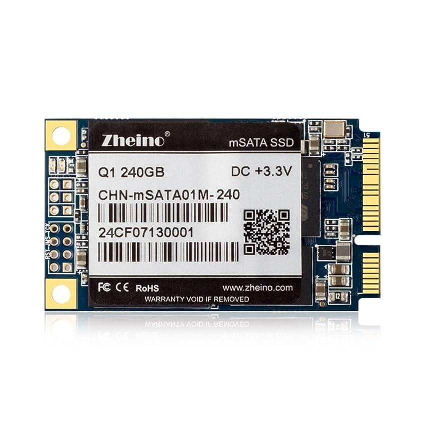 岩ルーチン委員長Zheino Q1 内蔵型 MSATA 240GB SSD MLC採用(30*50mm) 3年保証 MSATAIII 6Gb/s mSATA ミニ ハードディスク(Not TLC Not 3D NAND Flash)