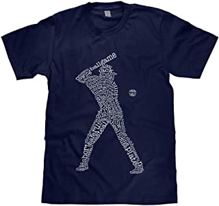 Big Boys' Baseball Player Typography Youth T-Shirt