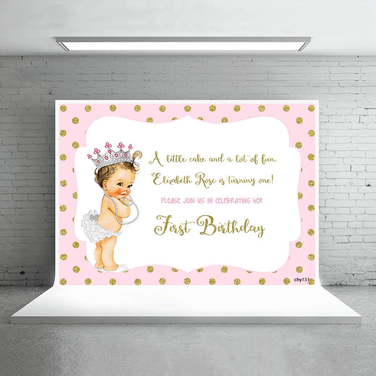 6x6ft,chy155 TCReal Cartoon Background Banner Photography Studio Baby Birthday Family Party Holiday Celebration Photography Backdrop Children Home Decoration