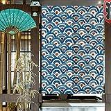 Wifehelper Patrón Decorativo de Estilo japonés Sombreado Cortina de la Ventana Dormitorio Cocina Media Puerta Cortina 85 * 120cm