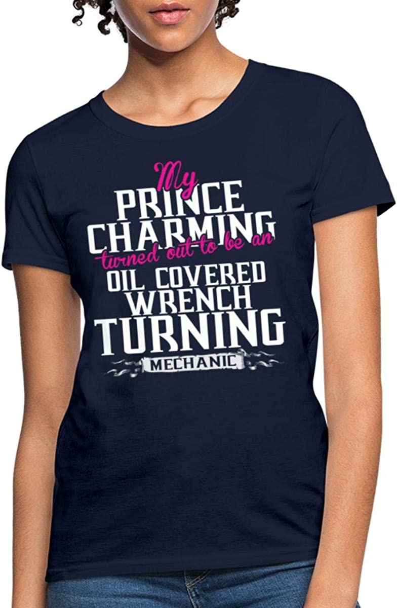 Mechanic Tshirt Mechanic My Prince Charming Mechanic Tshirt for Women