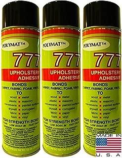 Qty 3 POLYMAT 777 Spray Glue Bond Adhesive for Wallpaper Lining Home Décor