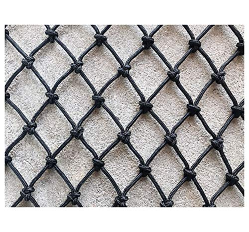 XCYYBB Child Safety Net, Baby Gate Pet Gate Fence Safety Net Outdoor Kids Stair Truck Cargo Trailer Netting Garden Protection Net Rope Decorative Rope Net-Black 3x3m(10x10ft)