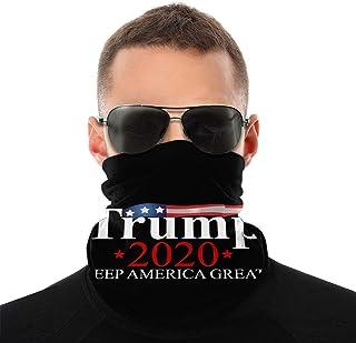 Trump 2020 nacke öron ansiktsmask lätt andningsbar halsvärmare vindtät bandanas för män kvinnor tonåringar utomhus alla sä...