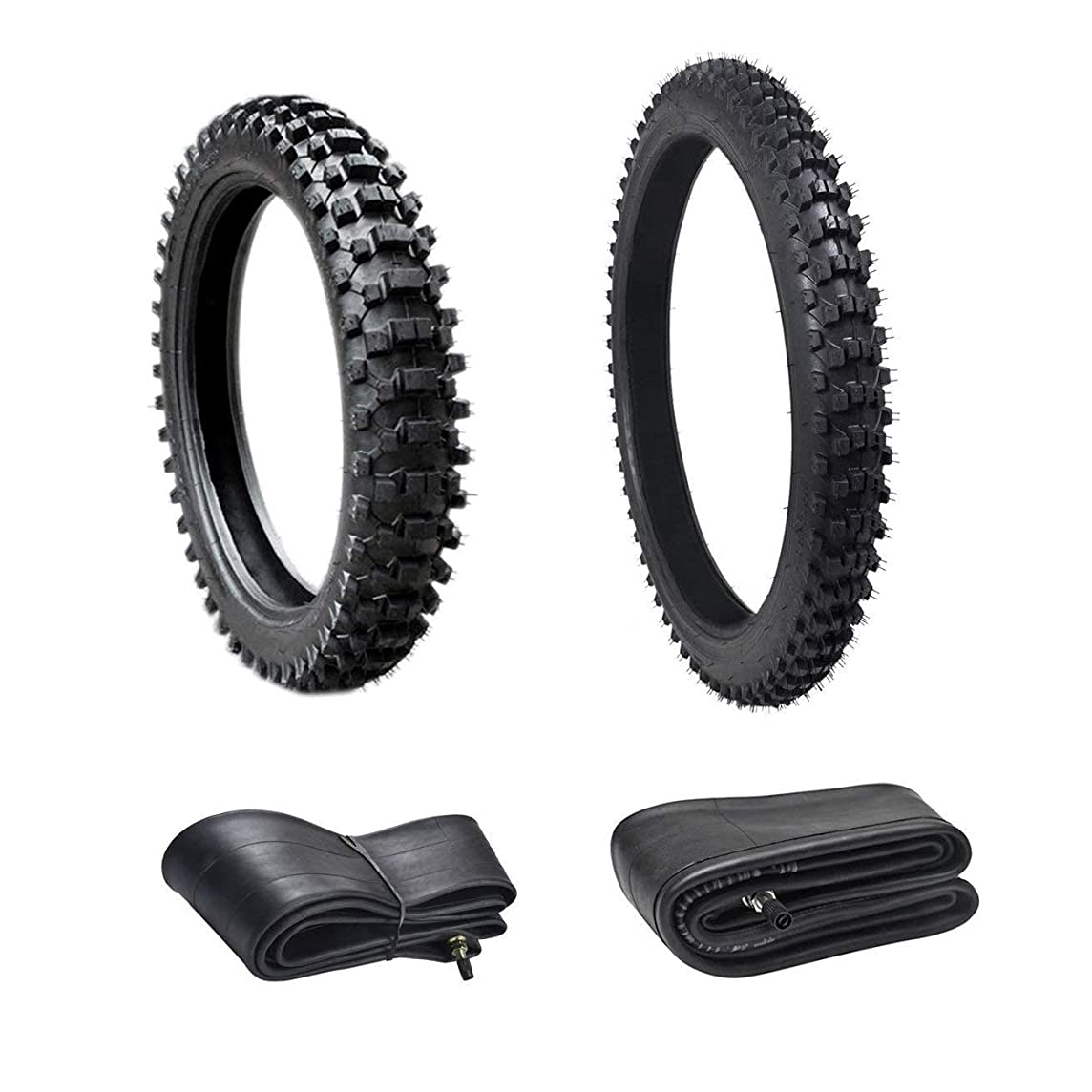 WPHMOTO Front 80/100-21 & Rear 110/90-18 Dirt Bike Tire and Inner Tube Set | Off Road Mud Motocross Motorcycle Tires and Tubes