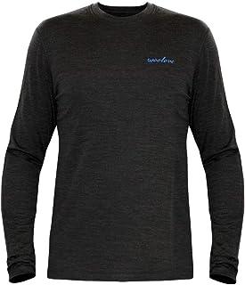 Woolove Men's 100% Merino Wool Baselayer Long Sleeve Crew Neck Shirt 190g